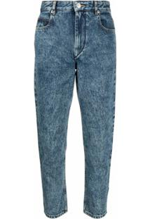 Isabel Marant Étoile Calça Jeans Cropped Cintura Média - Azul