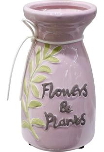 Vaso Flowers & Plants Rosa - Multicolorido - Dafiti
