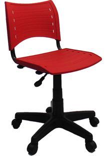 Cadeira Secretária Evidence Giratória Sem Braço Vermelho - Classic Home