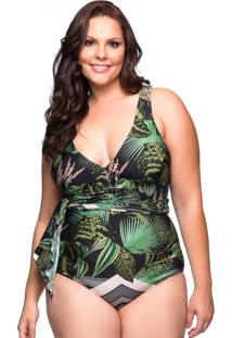 Maiô Pareô Botonical Plus Size La Playa 2019