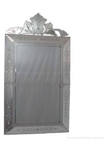 Espelho Decorativo Pena Prata - Antonio E Filhos