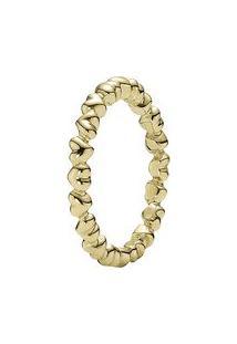 Anel Corações- Dourado- Tamanho 54 = 14- Pandorapandora