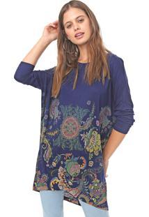 Blusa Desigual Cassidy Azul-Marinho