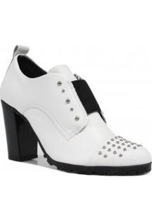 Sapato Cravo E Canela Oxford Salto