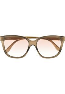 Gucci Eyewear Óculos De Sol Redondo Degradê - Marrom