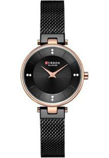Relógio Curren Analógico C9031L Feminino - Feminino-Preto