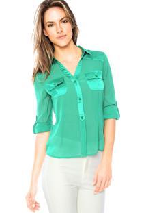 Camisa Manga Longa Aishty Slim Verde