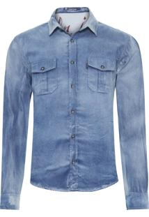 Camisa Masculina Halley - Azul