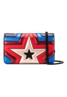 Stella Mccartney Bolsa Tiracolo Com Estrela Metálica - Azul