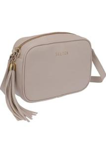 Bolsa Selten Mini Bag Feminina - Feminino-Creme