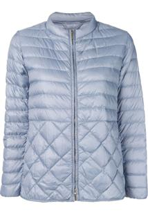 Max Mara Quilted Padded Jacket - Azul