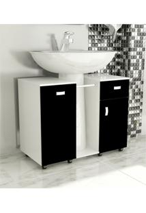 Gabinete De Banheiro Due Preto Tomdo