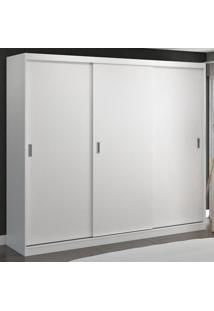 Guarda-Roupa Casal 3 Portas De Correr 100% Mdf 7320 Branco - Foscarini