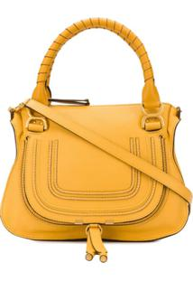 Chloé Marcie Leather Tote - Amarelo
