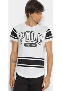 Camiseta Rg 518 Meia Malha Estampada Masculina - Masculino-Branco