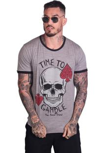 Camiseta Royal Brand Time To Gamble Cinza