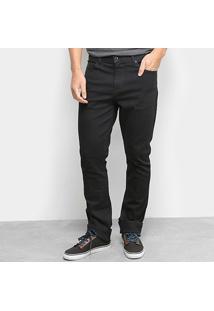 Calça Jeans Skinny Lacoste Lavagem Escura Masculina - Masculino-Preto