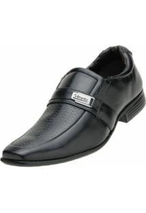 Sapato Social Venetto Simples - Masculino-Preto