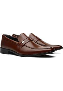 Sapato Social Polo Rio Mooca Elegance Conforto - Masculino-Marrom Claro