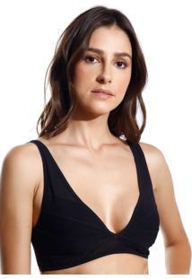 Sutiã Le Lis Blanc Recortes Ana 3 Underwear Preto Feminino