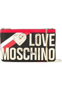 Love Moschino Bolsa Transversal Com Logo De Coração - Preto