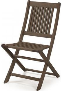 Cadeira Dobrável Sem Braços Primavera Casa E Jardim Móveis Stain Nogueira