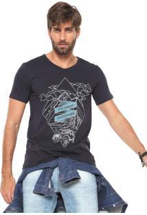 Camiseta Hering The Great Outdoors Azul-Marinho