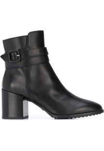 Tod'S Ankle Boot Com Fivela - Preto
