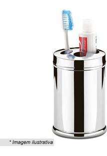 Porta Escova & Creme Dental- Inox- 13,1Xã˜8,4Cm- Brinox