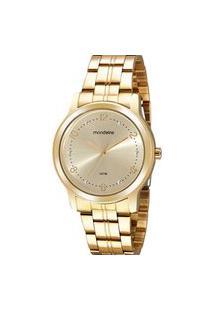 Relógio Feminino Analógico Dourado Mondaine - 99597Lpmvde1 Dourado