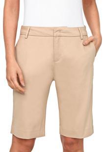 Bermuda Calvin Klein Jeans Chino Alfaiataria Bege