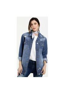 Jaqueta Feminina Destroyed Zune Jeans By Sabrina Sato