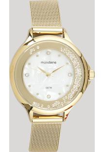 Relógio Analógico Mondaine Feminino - 99339Lpmvde2 Dourado - Único