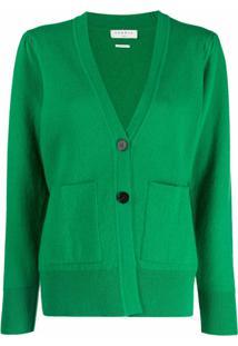 Sandro Paris Cardigan Com Bolso E Botões - Verde