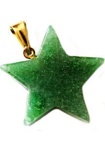 Pingente Estrela Quartzo Verde Twik
