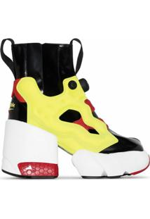 Maison Margiela Ankle Boot X Reebok Tabi Instapump Fury Hi - Preto