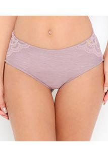 Calcinha Cavada Com Renda Love Secret Sensual Shape (820203) Lenzing Modal®