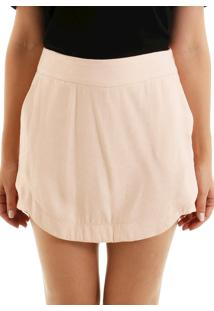 Shorts Sobreposto Jacquard Nude
