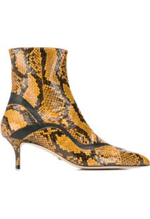 Paula Cademartori Ankle Boot Com Salto Agulha - Marrom