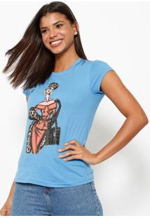 Camiseta Croqui- Azul & Begeclub Polo Collection