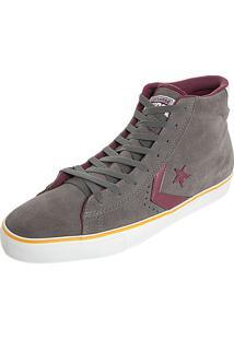Tênis Converse Cons Pro Leather Vulc Hi Cinza
