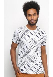 Camiseta All Free New York Masculina - Masculino-Branco