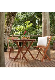 Cadeira Dobrável Para Jardim Em Madeira Maciça Veneza Mestra Polisten Nogueira