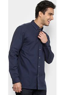 Camisa Lacoste Manga Longa Básica Masculina - Masculino