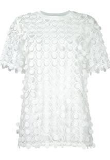 Carven Blusa Com Renda - Branco
