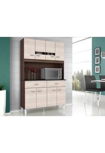 Cozinha 8 Portas Manu Capuccino/Amêndoa - Lc Móveis