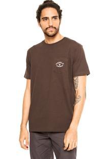 Camiseta Vissla Mountain Marrom