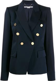 Stella Mccartney Blazer Com Botões Decorativos - Azul