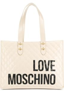 Love Moschino Quilted Effect Tote Bag - Neutro