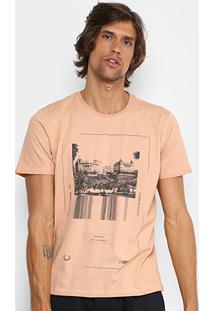 Camiseta Forum Tinturada Rules Masculina - Masculino-Bege